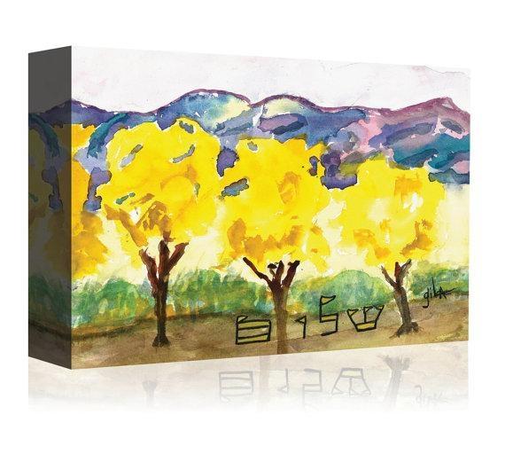 Judaic Art Print Jewish Canvas Print Hebrew Paintings Regarding Jewish Canvas Wall Art (Image 16 of 20)