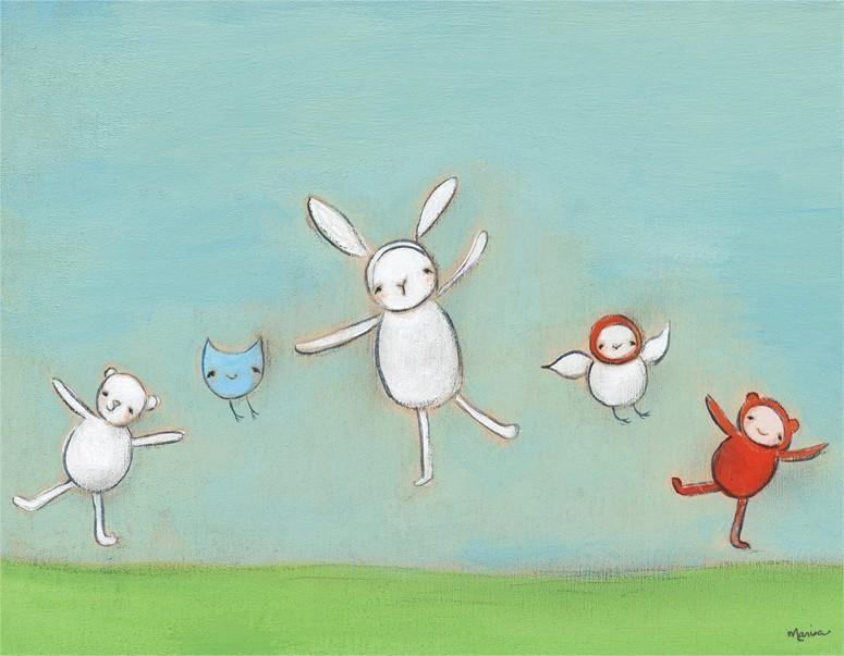 Jump For Joy Canvas Wall Artoopsy Daisy – Rosenberryrooms Within Joy Canvas Wall Art (Image 14 of 20)