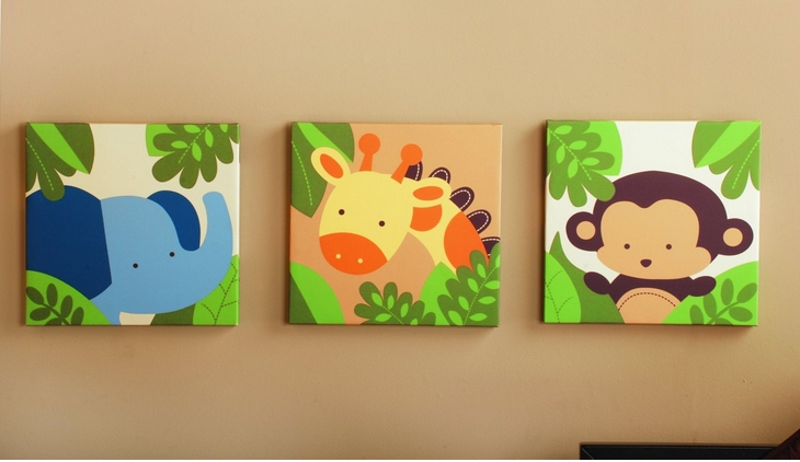 Jungle Themed Baby Stuff ~ Ohmygoogoogaga Intended For Safari Canvas Wall Art (Image 14 of 20)