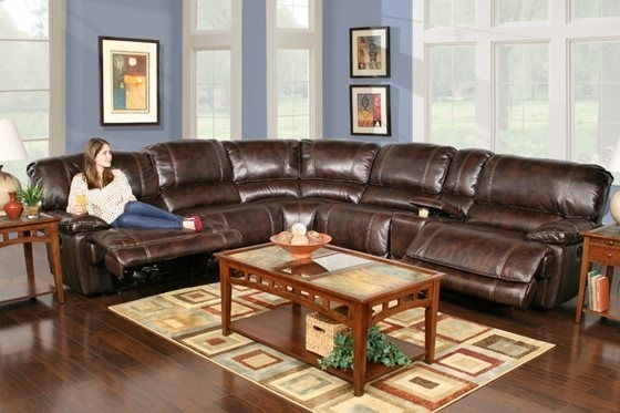 Kane's Furniture – Leathaire 6 Piece Power Reclining Sectional | For Inside Kanes Sectional Sofas (Image 7 of 10)