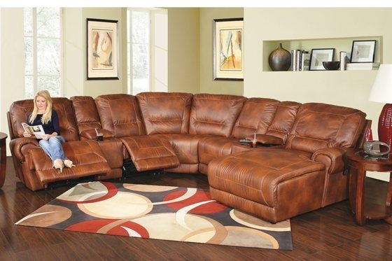 Kane's Furniture – Reno 7 Piece Power Reclining Bonded Leather Inside Kanes Sectional Sofas (Image 9 of 10)