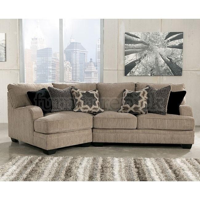 Katisha Platinum Small Modular Sectional W/ Cuddler | Stylish Living For Small Modular Sectional Sofas (Image 2 of 10)