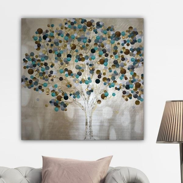 Katrina Craven 'a Teal Tree' Gallery Wrapped Canvas Wall Art Regarding Canvas Wall Art Of Trees (Image 4 of 20)