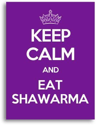 Keep Calm And Eat Shawarma Canvas Wall Art, Violet | Home Decor Intended For Keep Calm Canvas Wall Art (View 11 of 20)