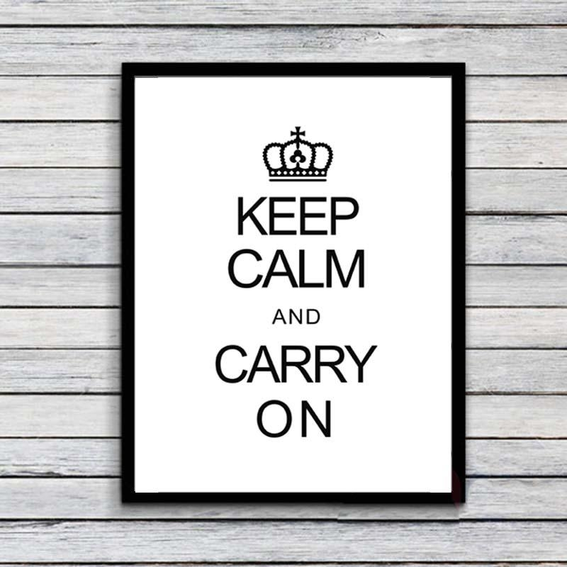 Keep Calm Quote Canvas Art Print Painting Poster, Wall Pictures Inside Keep Calm Canvas Wall Art (Image 18 of 20)