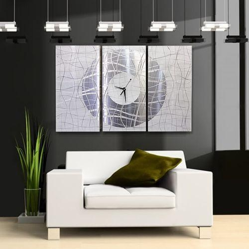 Keeping Time – Abstract Metal Wall Clocks With Abstract Metal Wall Art With Clock (Image 10 of 20)