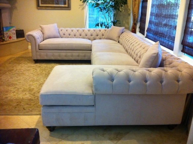 Kenzie Style – Chesterfield Custom Sectional Sofas – Traditional With Customizable Sectional Sofas (Image 6 of 10)