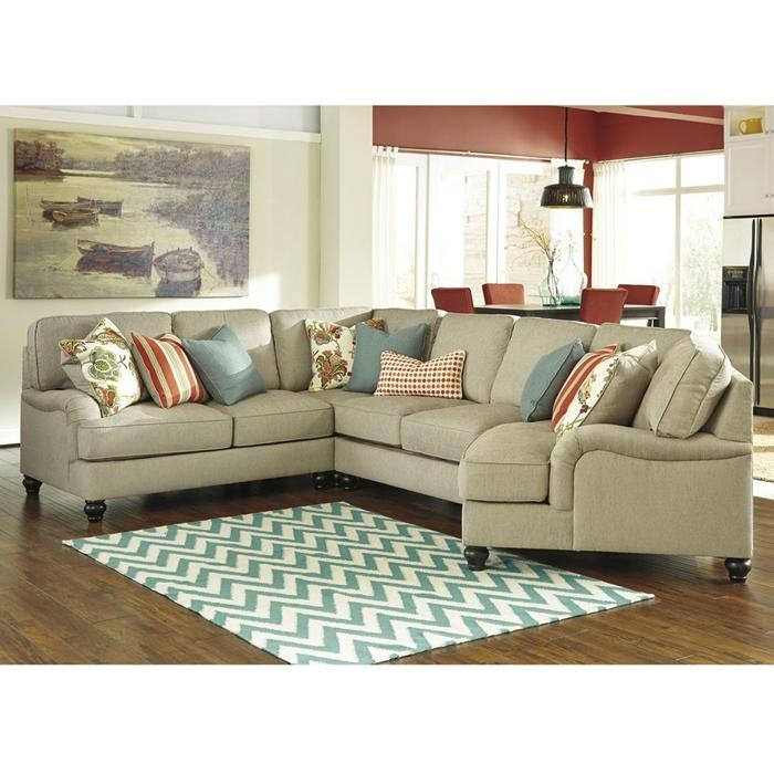 Kerridon 4 Piece Sectional In Putty | Nebraska Furniture Mart– Come With Kansas City Sectional Sofas (Image 4 of 10)