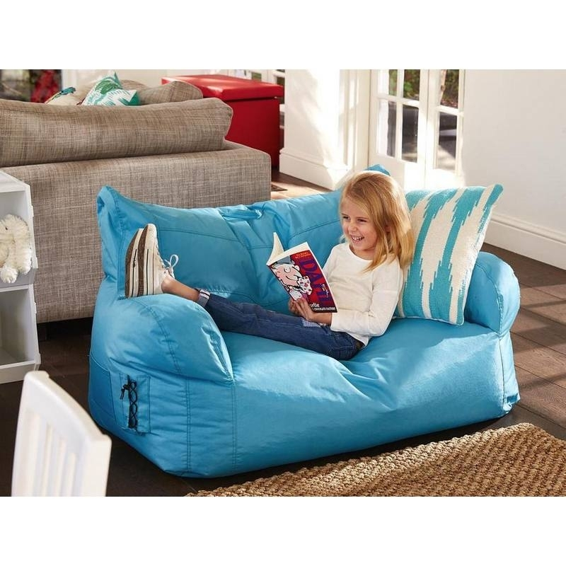 Kids 2 Seater Brady Bean Bag Sofa Chair | Outdoor Bean Bagshipkids In Childrens Sofas (Image 8 of 10)