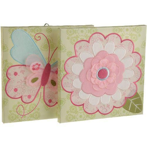 Kids Line Bella Canvas Wall Art 2 Piece, Pink | For The Home In Kidsline Canvas Wall Art (Image 9 of 20)