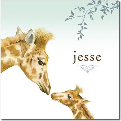 Kids Wall Art Canvas Make The Perfect Gift | Personalized Kids Inside Giraffe Canvas Wall Art (Image 12 of 20)