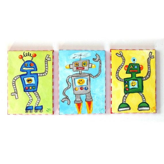 Featured Image of Robot Canvas Wall Art