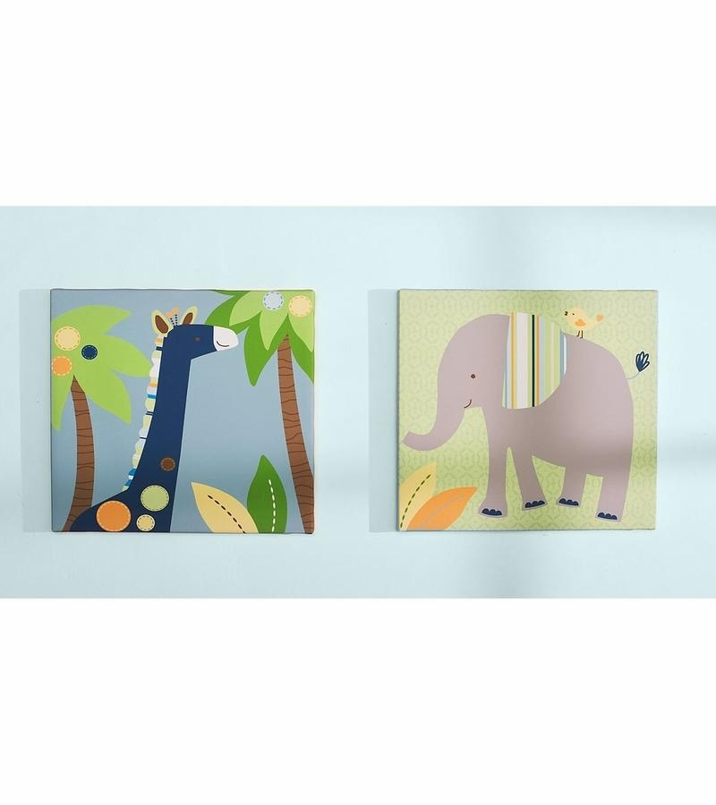 Kidsline Tribal Tails Canvas Wall Art – Set Of 2 For Kidsline Canvas Wall Art (Image 17 of 20)