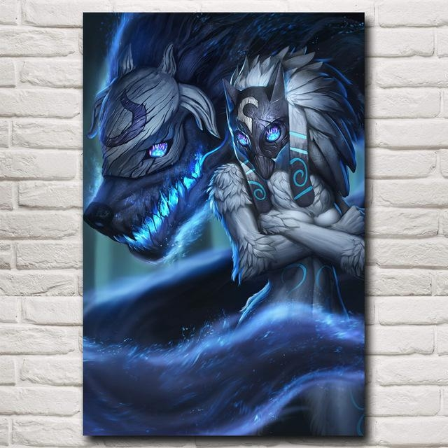Kindred League Of Legends Lol Game Art Silk Poster Pictures Home Within Kindred Abstract Metal Wall Art (Image 16 of 20)