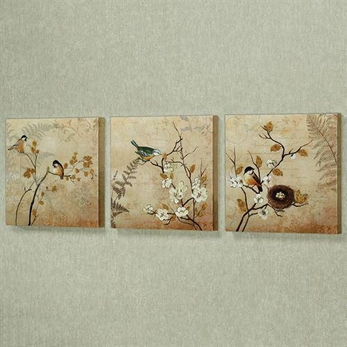 Kiss Of Nature Birds Canvas Wall Art Set For Birds Canvas Wall Art (Image 14 of 20)