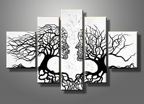 Kiss Tree Canvas Gallery Wrap Wall Art Set Paintingsummer Chen Within Canvas Wall Art Of Trees (Image 5 of 20)