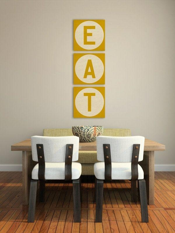 Kitchen Decorating Ideas Wall Art Gorgeous Decor Diy Dining Canvas Pertaining To Eat Canvas Wall Art (Image 18 of 20)