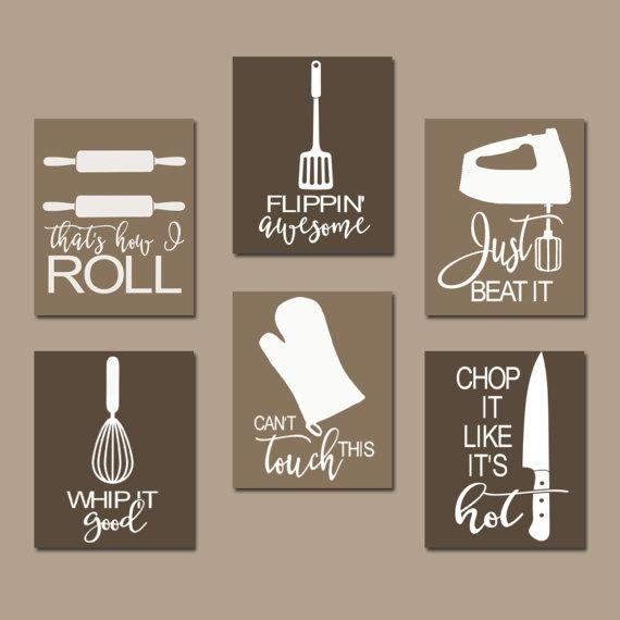 Kitchen Quote Wall Art Funny Utensil Pictures Canvas Or With Canvas Wall Art Funny Quotes (Image 15 of 20)