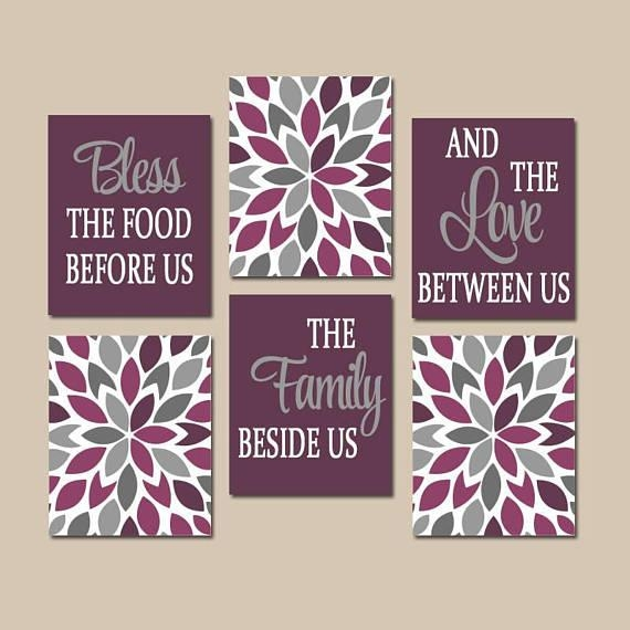 Kitchen Quote Wall Art Kitchen Canvas Or Prints Bless Food With Regard To Kitchen Canvas Wall Art (Image 15 of 20)