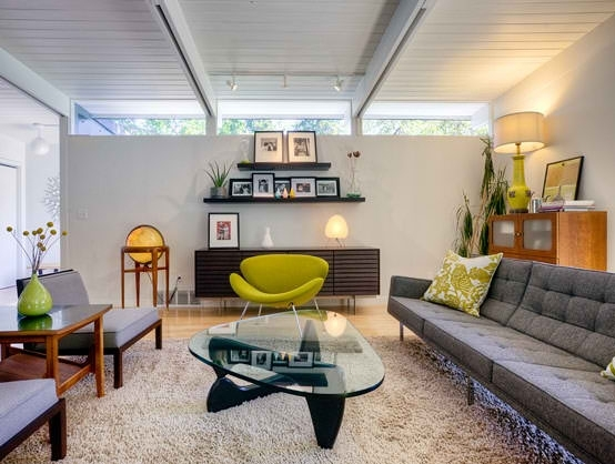 Kitten Vintage: 10 Mid Century Beach Style Living Rooms With Florence Knoll Living Room Sofas (Image 8 of 10)