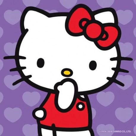 Kitty Surprised Purple Canvas Wall Art In Hello Kitty Canvas Wall Art (View 12 of 20)