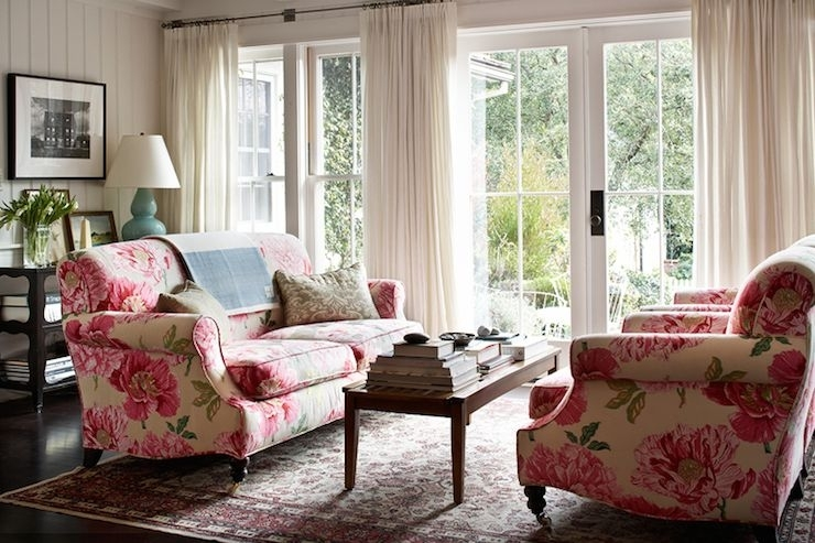 Kristen Panitch Interiors – Living Rooms – Sofas Facing Each Other Inside Chintz Floral Sofas (Image 7 of 10)