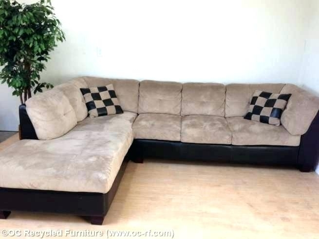 L Shaped Sectionals L Shaped Sectional Sofa With Chaise Beige Pertaining To Used Sectional Sofas (Image 2 of 10)