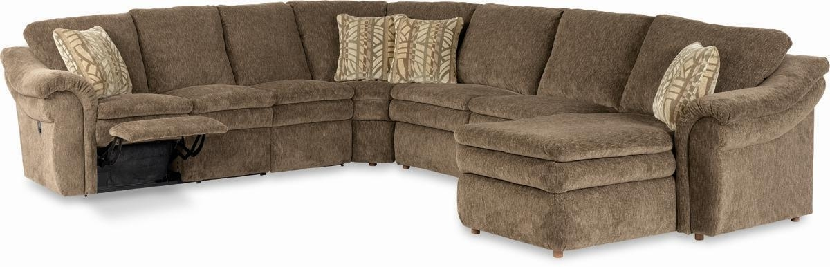 La Z Boy Devon 5 Piece Sectional With Las Chaise And Power Recline Regarding La Z Boy Sectional Sofas (Image 8 of 10)