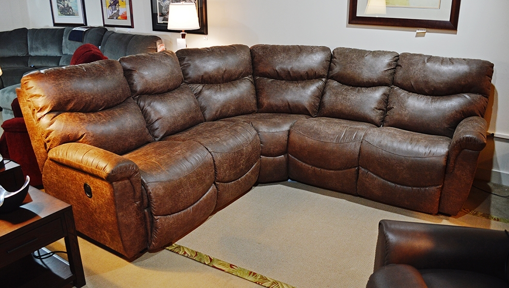 La Z Boy – James Sectional – Harris Family Furniture Within La Z Boy Sectional Sofas (Image 7 of 10)