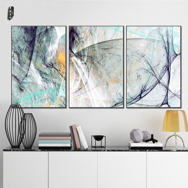 Landscape Abstract Canvas Paintings Modern Wall Art Poster And Regarding Abstract Wall Art Posters (Image 10 of 20)