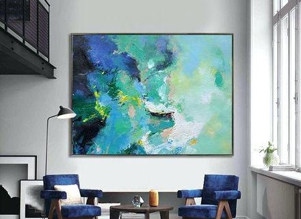 Large Abstract Canvas Art – Housetohome (Image 12 of 20)