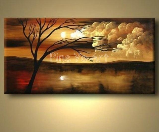 Large Abstract Modern Canvas Wall Art Decorative Handmade Nature Pertaining To Abstract Nature Canvas Wall Art (Image 9 of 20)