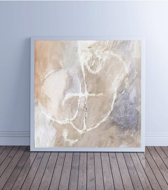 Large Abstract Painting, Abstract Art, Canvas Art, Giclee Fine Art Throughout Neutral Abstract Wall Art (Image 13 of 20)
