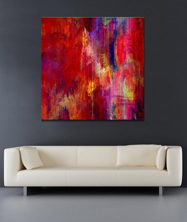 Large Abstract Paintings Transition Art Intended For Large Abstract Canvas Wall Art (Image 14 of 20)