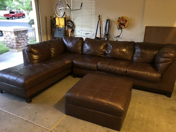 Large Brown Leather Sectional Couch (Furniture) In Gilbert, Az – Offerup In Gilbert Az Sectional Sofas (Image 6 of 10)