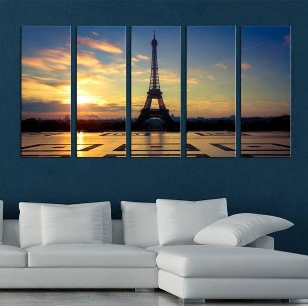 Large Canvas Art – Eiffel Tower Paris Canvas Prints, Prints For For Eiffel Tower Canvas Wall Art (Image 11 of 20)