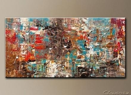 Large Canvas Art Oversized Abstract Art Paintings Extra Large Wall With Modern Abstract Huge Wall Art (Image 7 of 20)