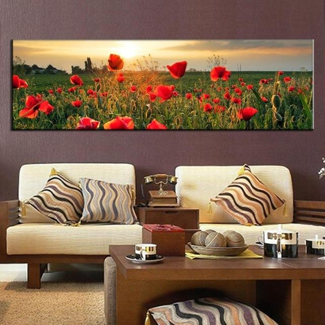 Large Canvas Painting The Flower Fields Canvas Wall Art Picture Inside Large Canvas Wall Art (Image 10 of 20)