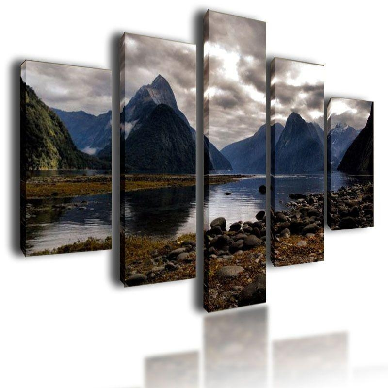Large Canvas Pictures Mountains Wall Art Split Multi Panel Parted Inside Mountains Canvas Wall Art (Image 13 of 20)
