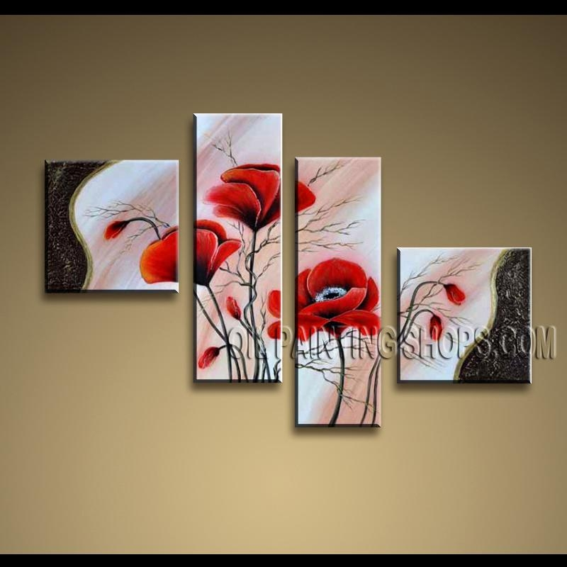 Large Contemporary Wall Art Oil Painting On Canvas Panels Gallery With Oil Paintings Canvas Wall Art (Image 7 of 20)