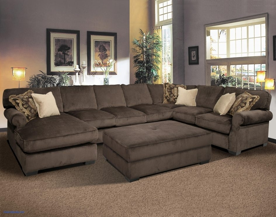 Large Leather Sectional Sofa Full Sectional Couch Tan Sectional With With Deep U Shaped Sectionals (Image 7 of 10)