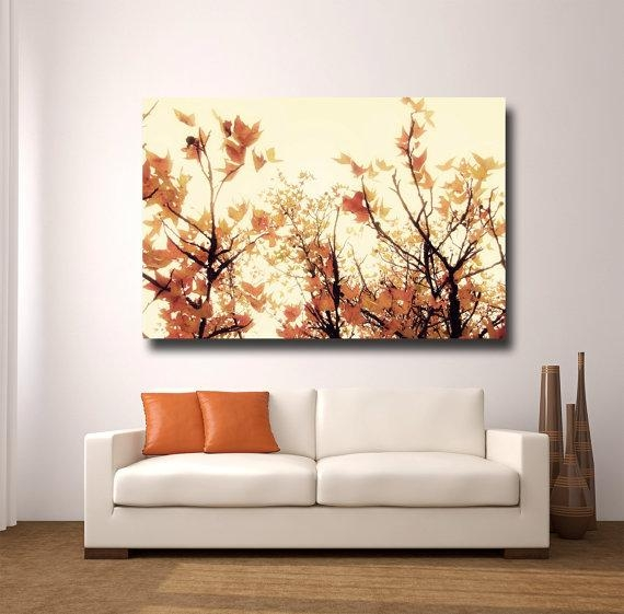 Large Orange Wall Art Canvas Gallery Wrapamytylerphotography With Orange Canvas Wall Art (View 4 of 20)