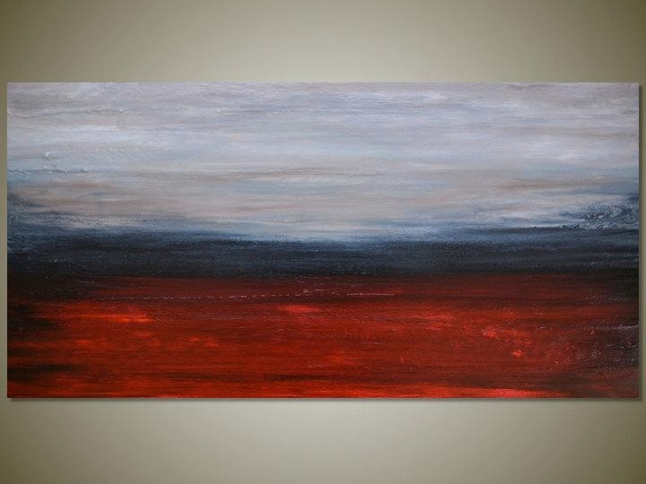 Large Original Abstract Landscape Painting Wall Art Canvas Regarding Abstract Landscape Wall Art (Image 14 of 20)