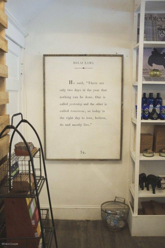 Large Quote Art (Engineer Print With Diy Frame) Via Classic Play Regarding Large Canvas Wall Art Quotes (Image 10 of 20)