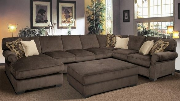 Large Sectional Sofa With Ottoman Living Room | Windigoturbines For Sectional Sofas With Oversized Ottoman (View 2 of 10)