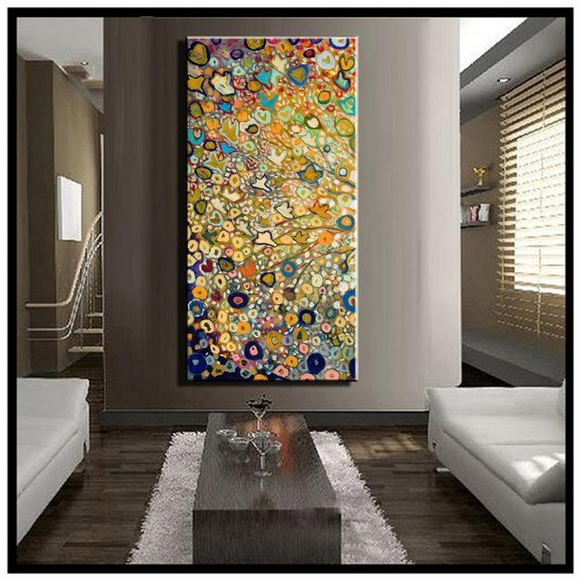 Large Single Abstract Flower Cheap Huge Vertical Oil Painting On Regarding Modern Abstract Huge Oil Painting Wall Art (Image 11 of 20)