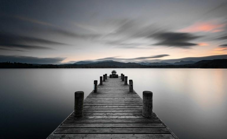 Large Stillness Lake Jetty Printed Canvas Wall Art Eluxury Home Intended For Jetty Canvas Wall Art (Image 17 of 20)