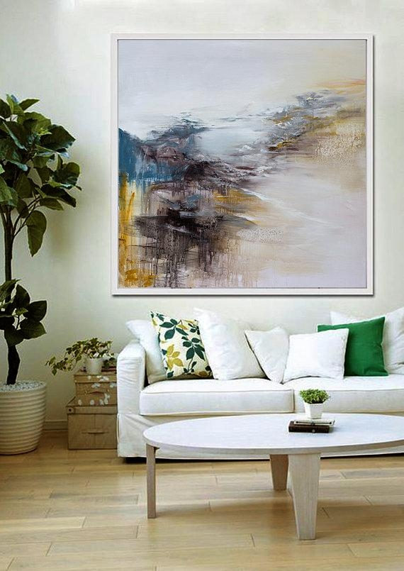 Large Wall Art Abstract Painting Contemporary Art Abstract With Regard To Abstract Wall Art Living Room (Image 17 of 20)