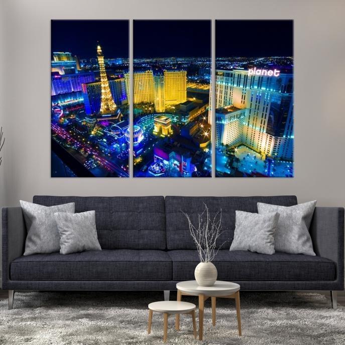 Large Wall Art Las Vegas Canvas Print – Las Vegas Landscape At For Las Vegas Canvas Wall Art (View 17 of 20)