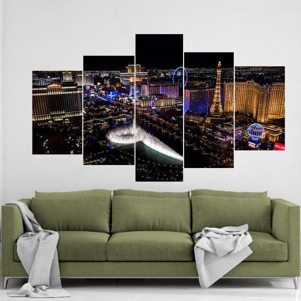 Las Vegas Canvas Wall Art With Regard To Las Vegas Canvas Wall Art (View 10 of 20)